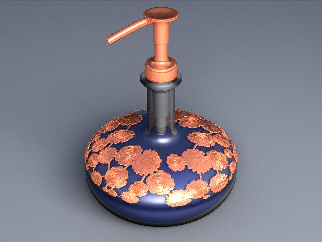 3D soap pump model