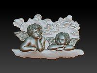 putti angels 3D model