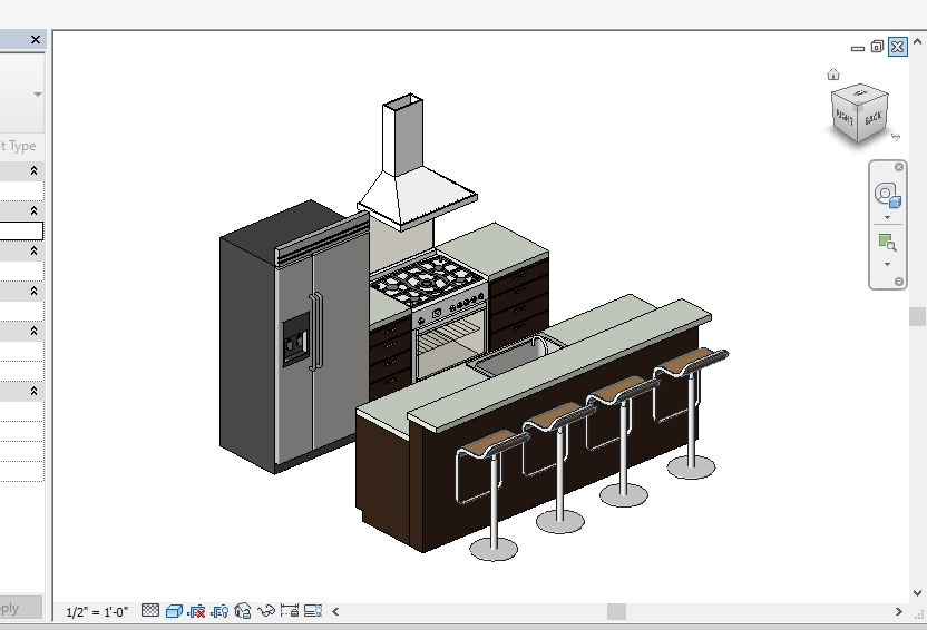 3D small kitchen