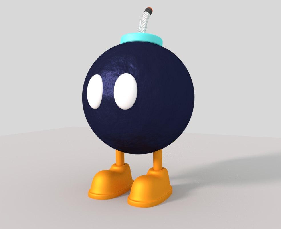 bob-omb enemy super 3D model