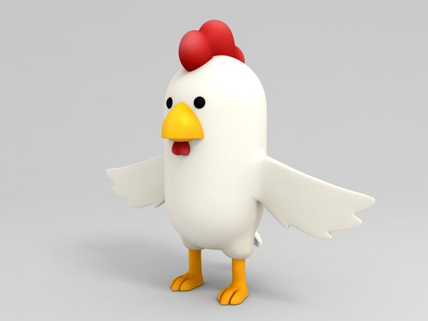 3D chicken character cartoon