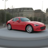 Mazda mx 5 hardtop unity 3d cycles ready 3D model