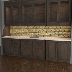 kitchen vintage 3D model