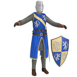 3D knight helmet sword model