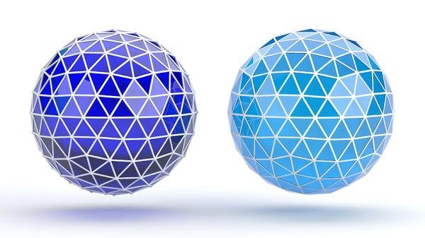 medium ico sphere 3D
