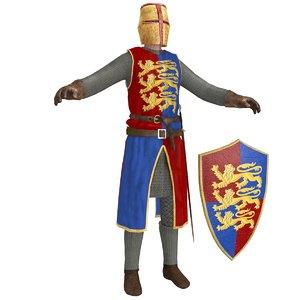 knight helmet sword 3D model
