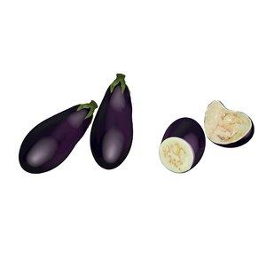eggplant aubergine printable 3D model