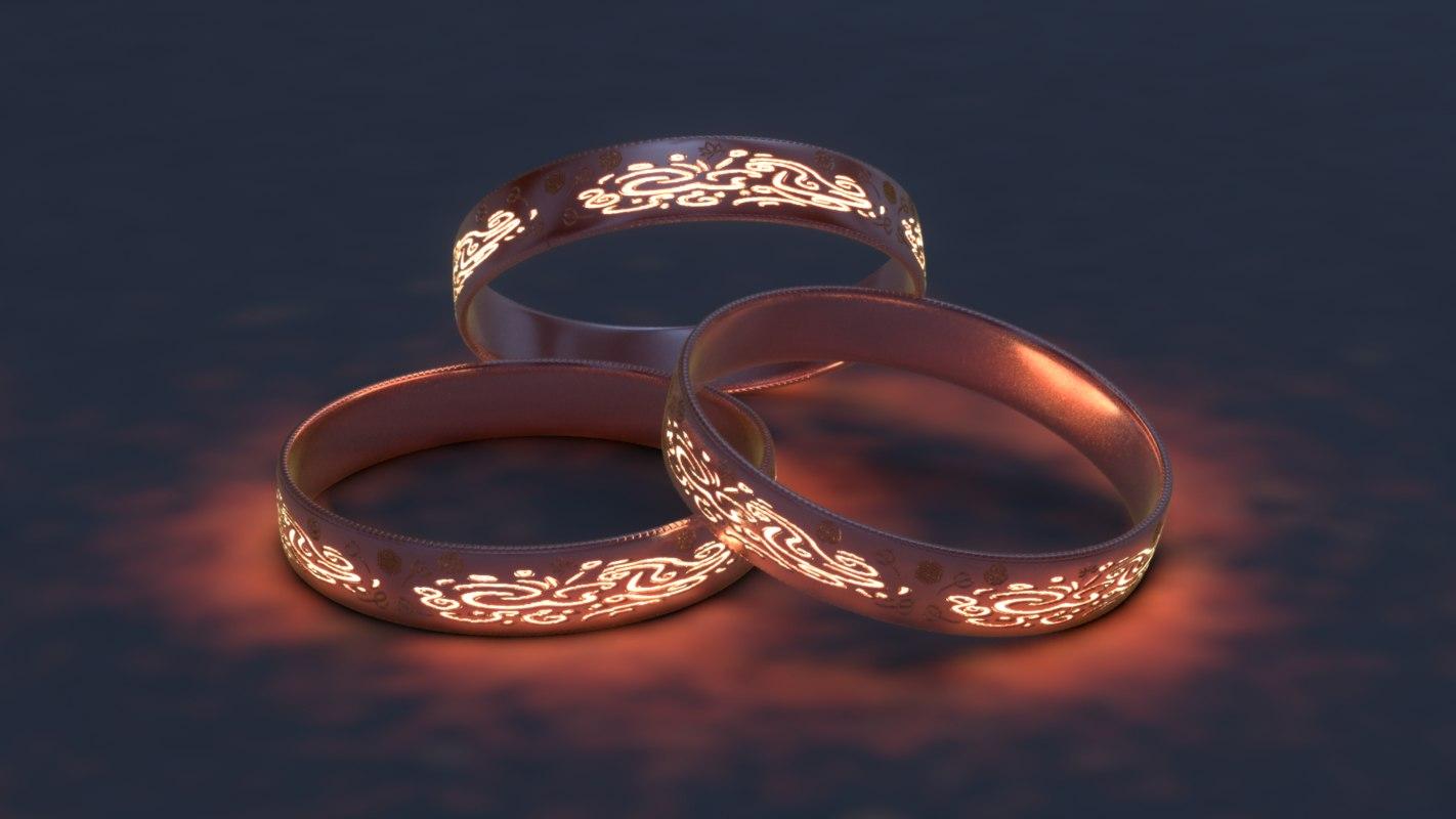 3D sculpted ring model