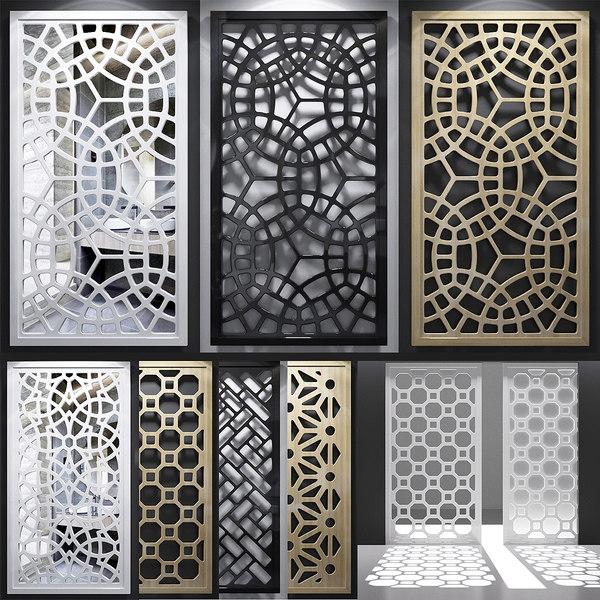 3D model screen decorative