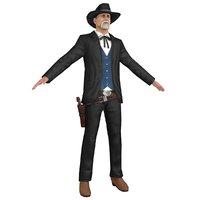 cowboy revolver hat 3D