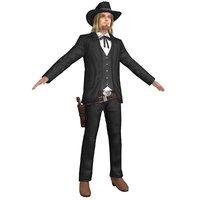 3D cowboy belt revolver model