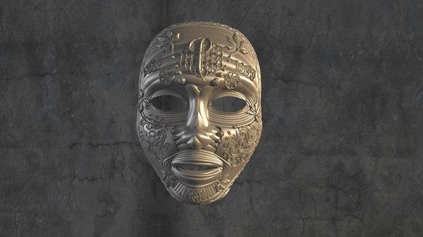 3D sculpted mask model