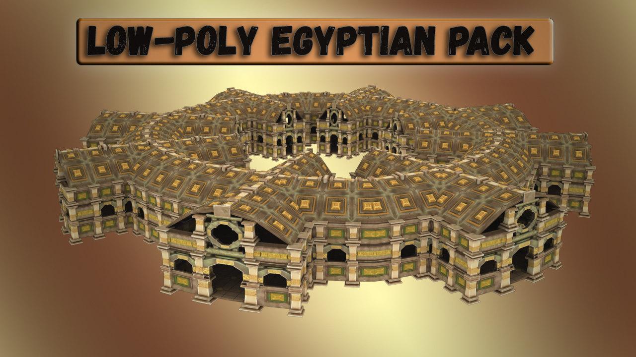 pack egyptian - 3D model