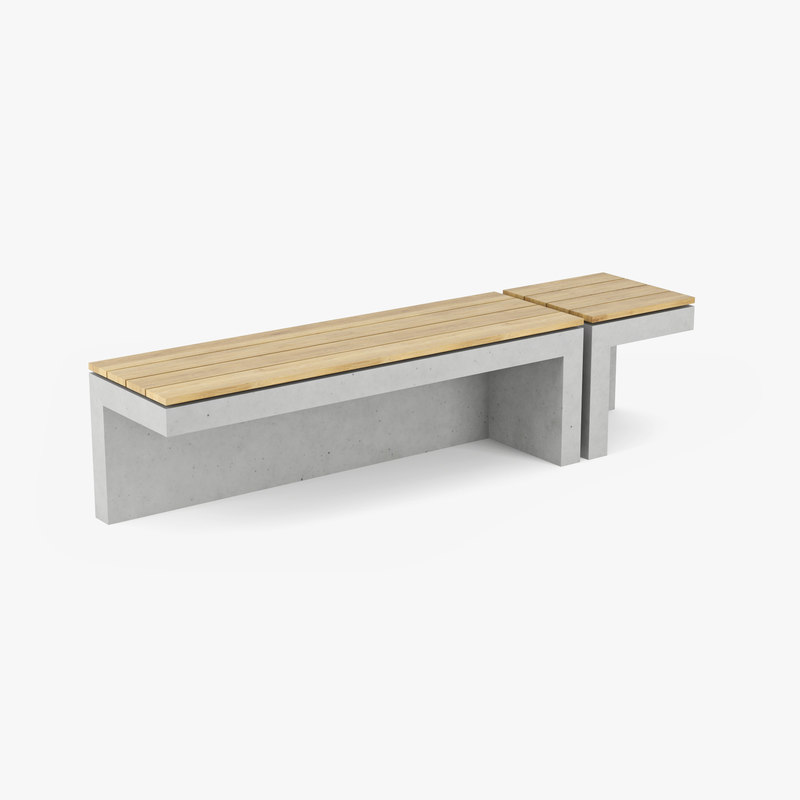 3D urban furniture model