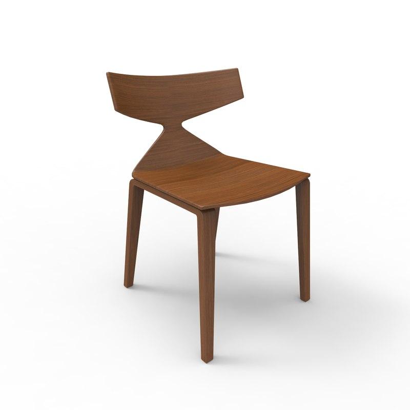 3D model saya chair