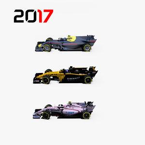 3D formula 2017 cars 1