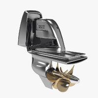 boat engine 3D