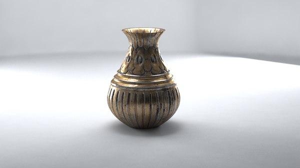 3D sculpted vase