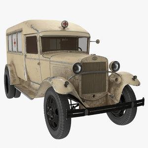 3D gaz-aa ambulance model