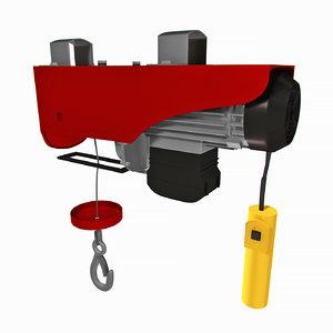 electric cable hoist 3D model