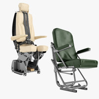 airplane pilot chair 01 model