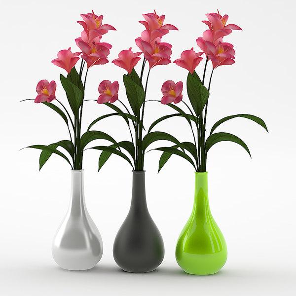 3D vase modeled model