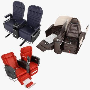 3D model class airplane chair 01
