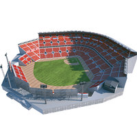 baseball stadium basebal 3D model