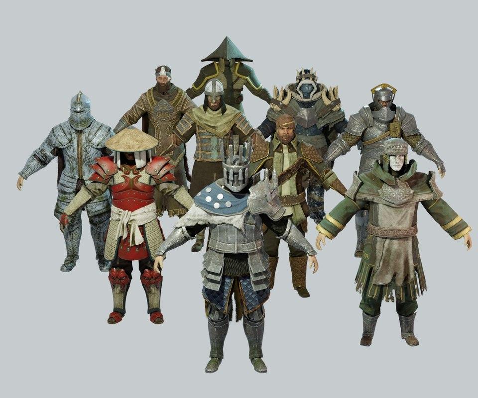 dark fantasy protagonist pack model