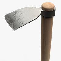3D pickaxe tool hoe