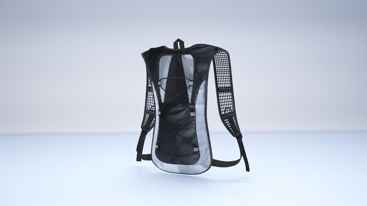 hydration backpack pack 3D model