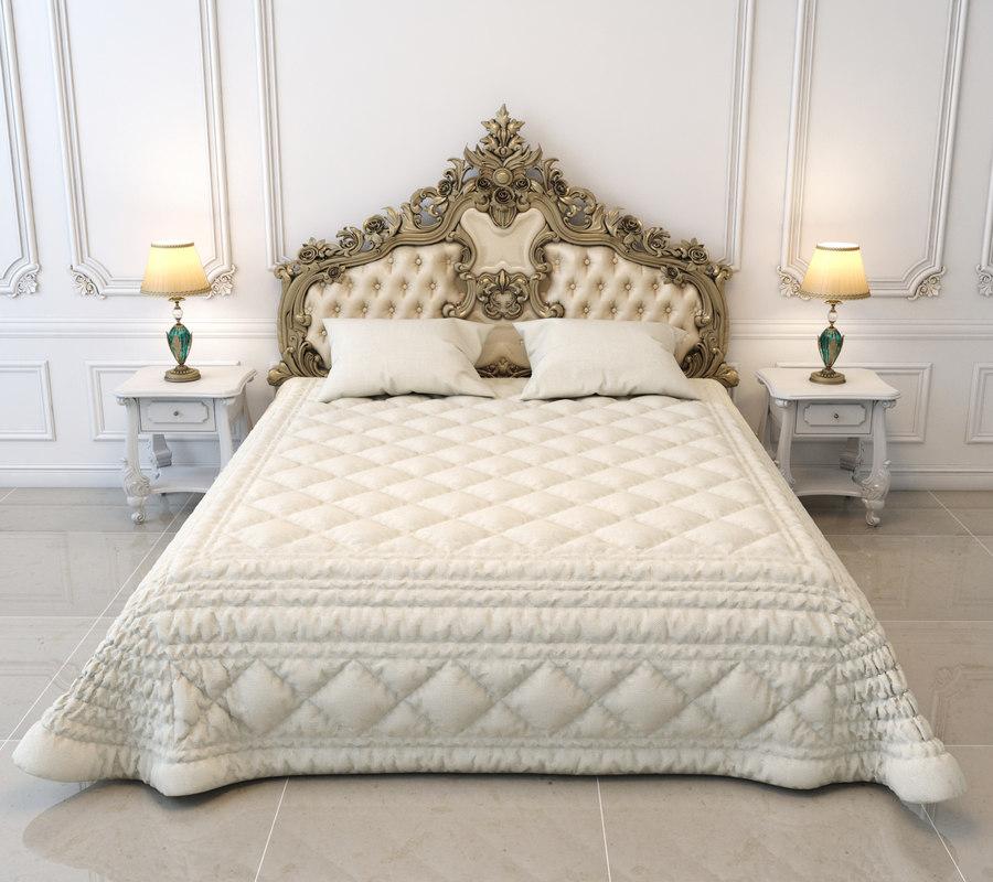3D double bed european