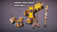 Horror circus props
