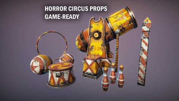 circus props 3D model