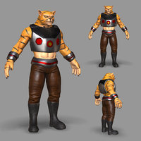cat catman 3D model