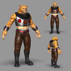 cat catman 3D model