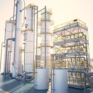 3D model small industrial oil
