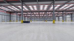 3D industrial building interior 7