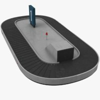 3D baggage belt real model