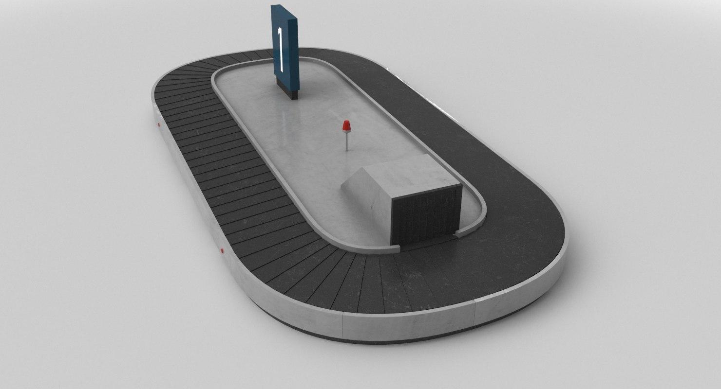 3D baggage belt real model