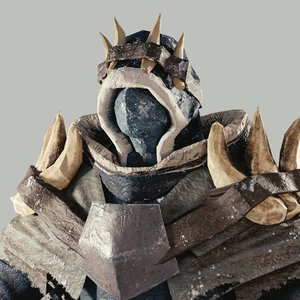fantasy armorset arctic armor 3D model