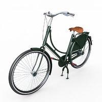3D azor european city bicycle
