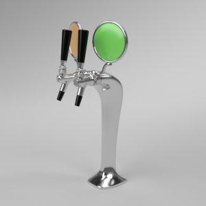 3D interior beer tower cobra
