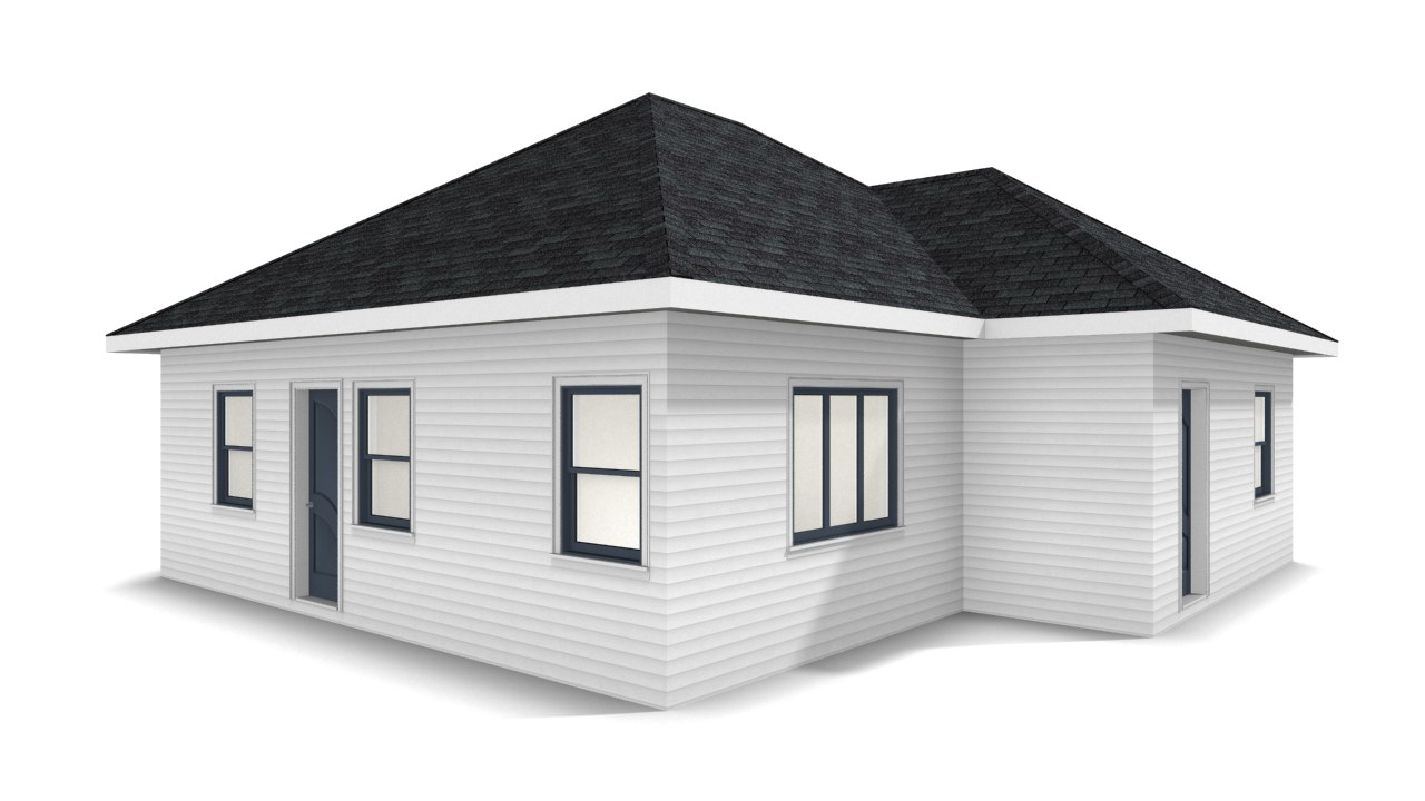 3D bungalow house