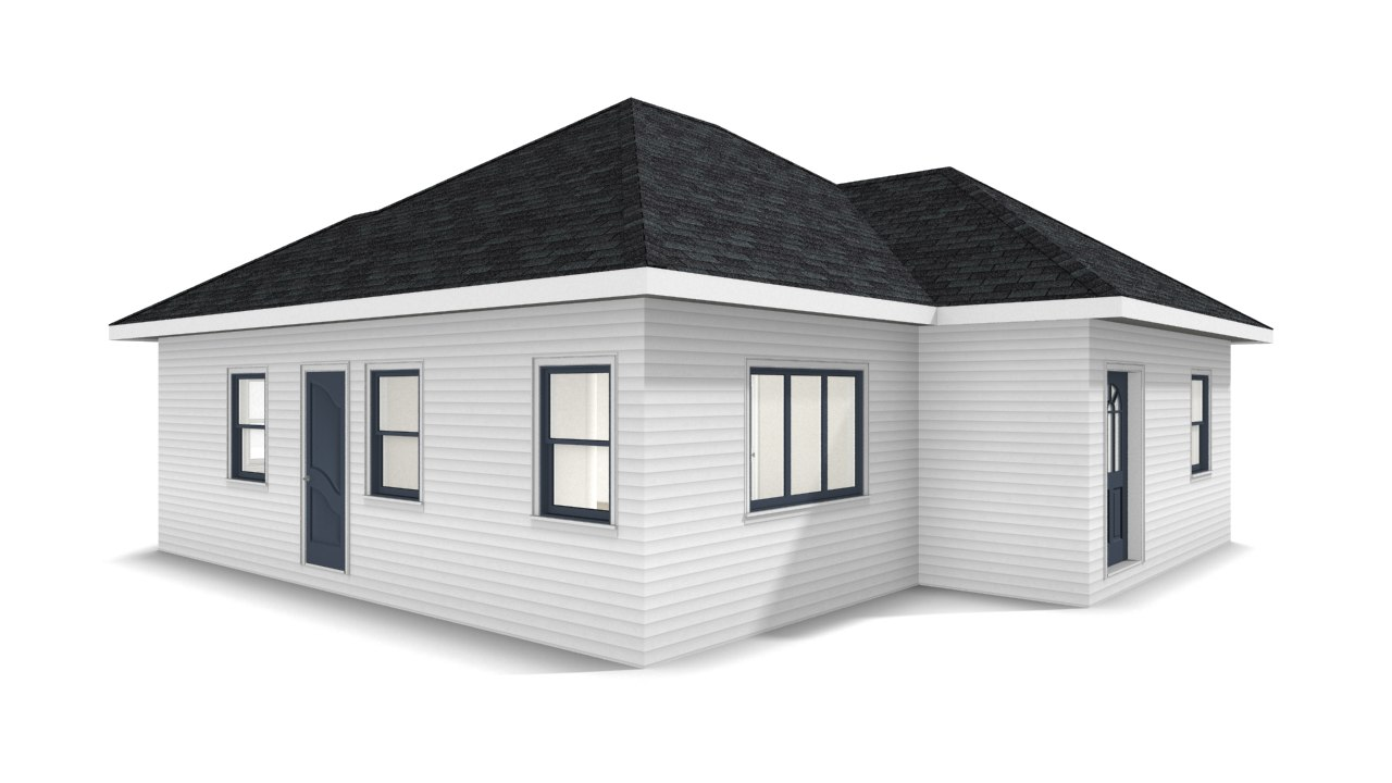 bungalow house 3D