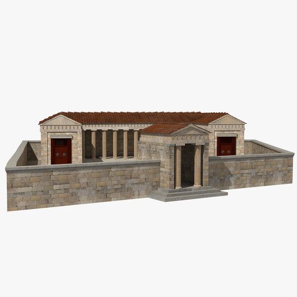 3D brauroneion sanctuary acropolis model