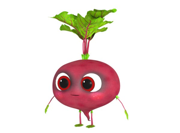 beet character rigged 3D model