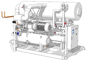 3D model unisab pac chiller