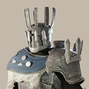 3D fantasy armorset tower armor model