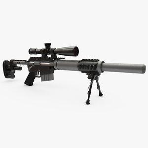 sniper rifle cs5 3D model